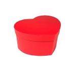 Hatbox heartshape 15x19xH.10cm red 1TK