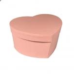 Hatbox heartshape 15x19xH.10cm pink 1TK