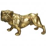 Planter Dog Polyresin Gold 36.8x17x20.3cm